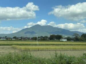 水守城から筑波山を望む